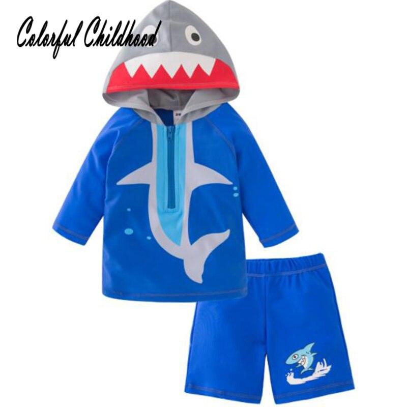 Ragazzi Beachwear Estate Del Fumetto Shark Design Manica Corta Costume Da Bagno Bambino Bambini Costume Da Bagno Per Bambini Abiti Da Spiaggia Ricco E Magnifico