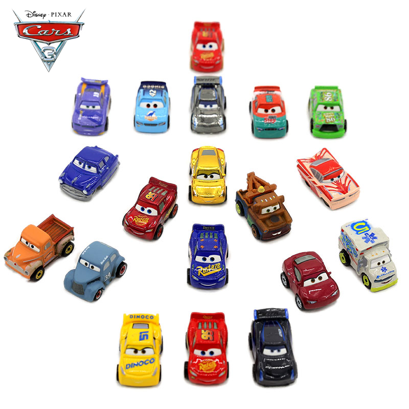 Disney Pixar 3-10 Pcs Set Cars 3 Model Car Toy Lightning McQueen Jackson Diecast Metal Alloy Model Gift Toys For Children disney pixar cars 3 new lightning mcqueen jackson storm cruz ramirez diecast alloy car model children s day gift toy for kid boy