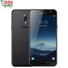 """Оригинальный Samsung Galaxy C8 sm-c7100 32 ГБ/64 ГБ 5.5 """"FHD 4 г LTE мобильный телефон Уход за кожей лица ID 3000 мАч dual sim двойной основной камеры GPS телефон"""