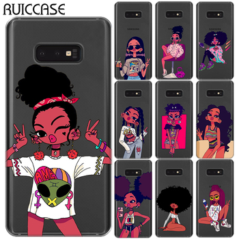 For Samsung Galaxy A10 A30 A50 M10 M20 M30 S10E S10 Plus E Silicon Case Afro Black Girl Magic Melanin Poppin Soft TPU Back Cover image