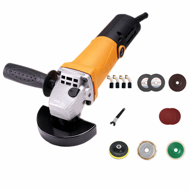 220v multifunctional electric angle grinder short handle grinding combo 2 power polishing grinding cutting sanding waxing tool