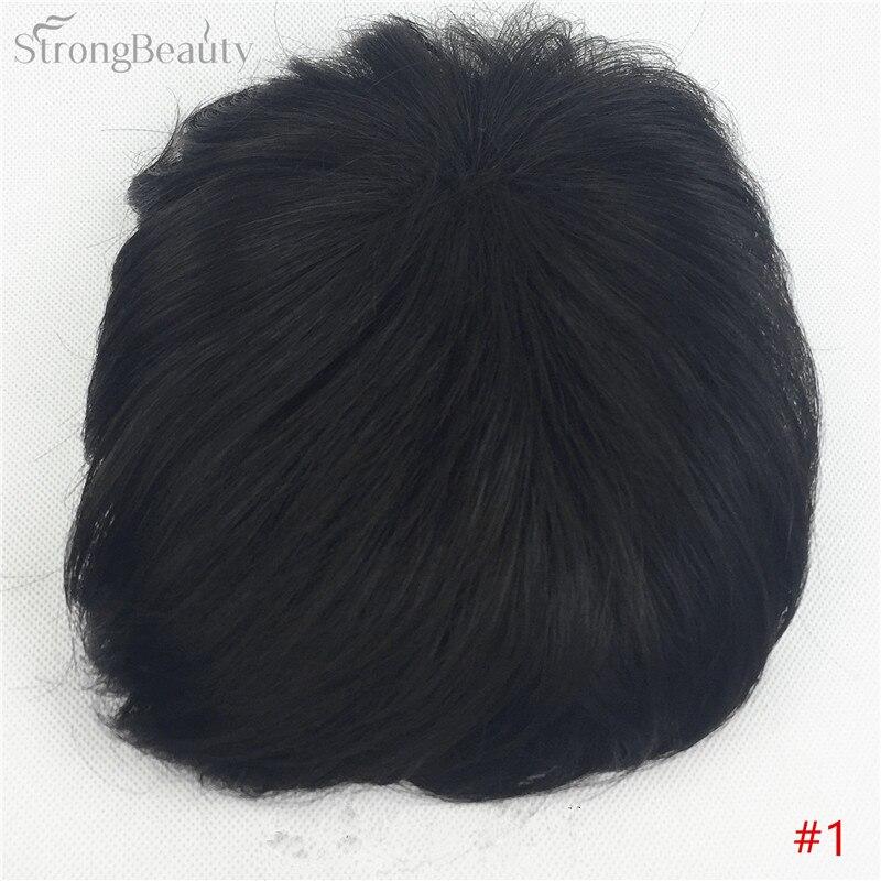 Сильная красота парик синтетические волосы парик выпадение волос топ кусок парики 36 цветов на выбор - Цвет: #1