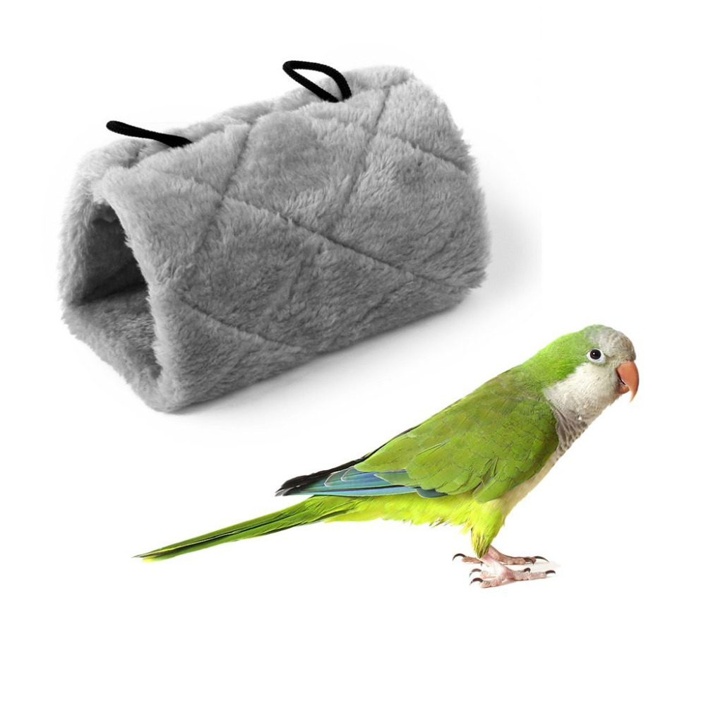 Pet Parrot Bird Hammock Hanging Cave Cage Snuggle Happy Hut Tent Bed Bunk Toy Blue Green