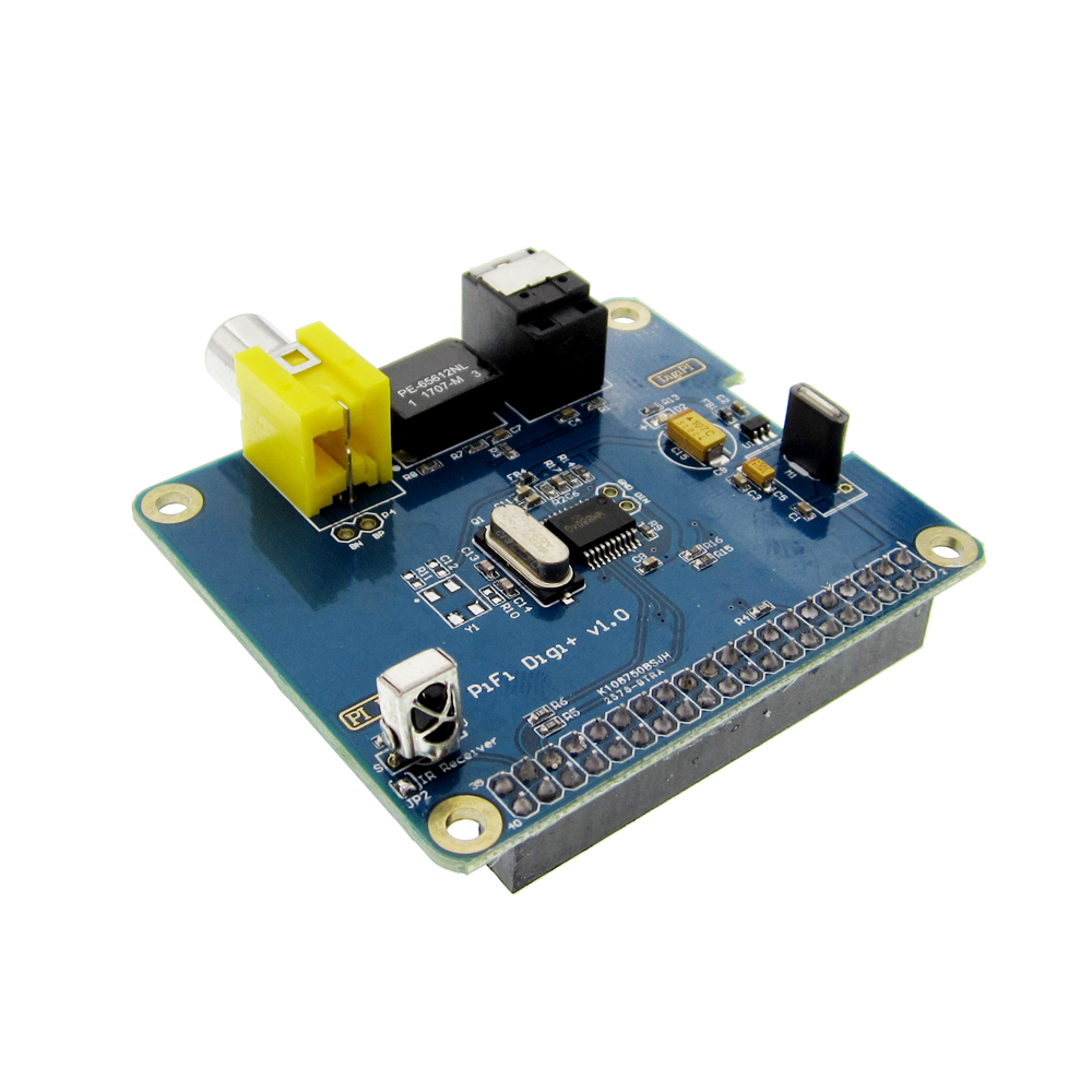 HIFI DiGi+ Plus Digital Sound Card I2S SPDIF Optical Fiber for Raspberry pi 3 Model B 2B 2 B 3B B+ A+ Zero