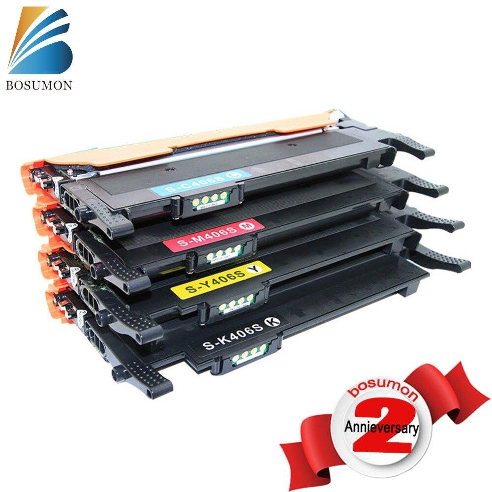 CLT-406S Toner Cartridges CLT-K406S C406S M406S Y406S,For Samsung CLP-365W XPRESS C410W CLX-3305FW XPRESS C460FW With chip clt k406s c406s m406s y406s 406 406s toner cartridges for samsung xpress clp 360 365 365w 366w clx 3305 3305w 3306fn printer