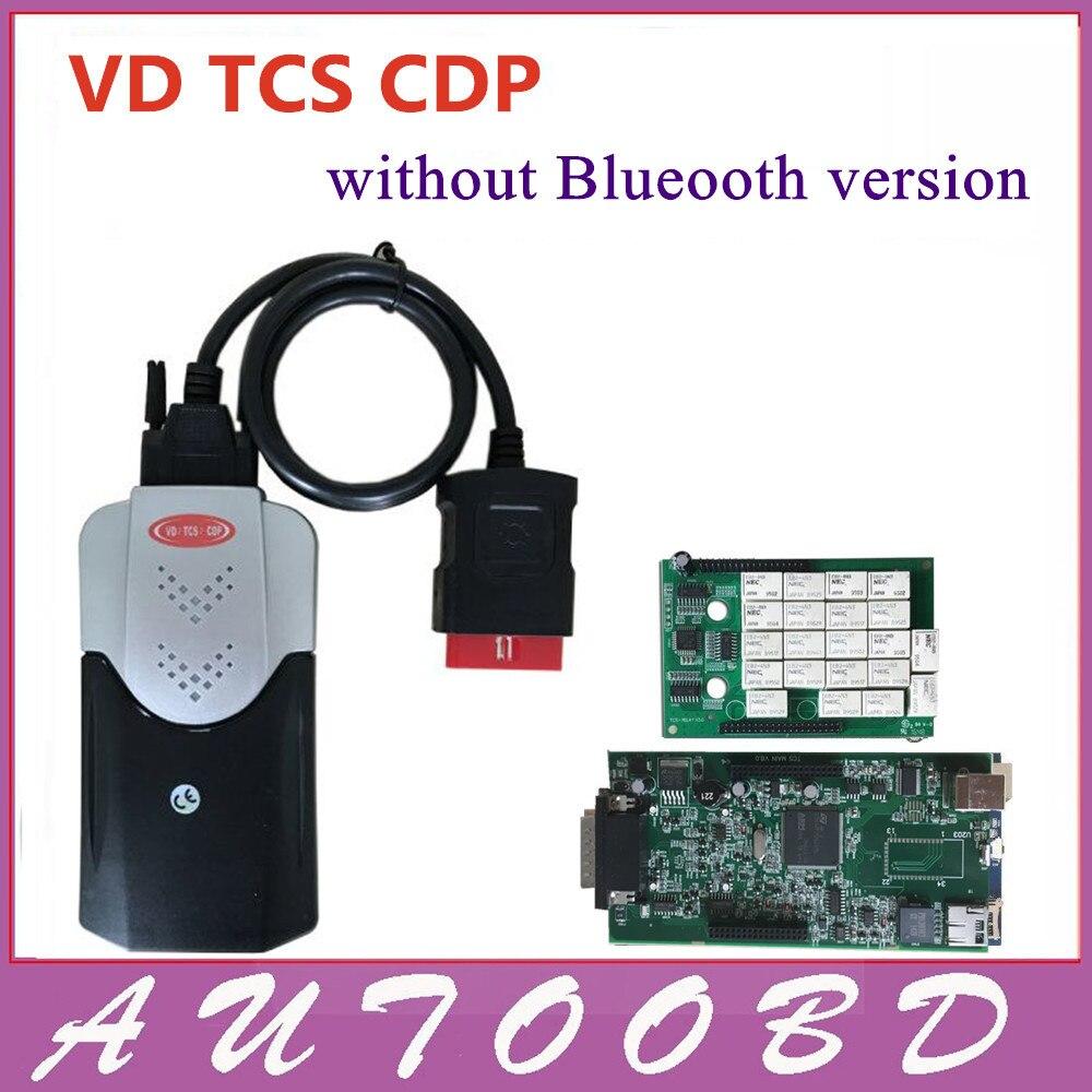 Prix pour 2014 R2 DVD Livraison Activer VD TCS cdp pro Nec Relais Vert conseil PCB V8.0 + LED pour la voiture et camions générique 3in1 auto diagnostic outil