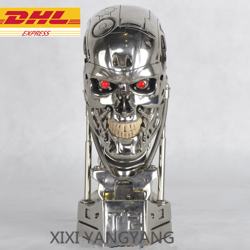 Action & Toy Figures Beautiful Cosplay The Terminator Halloween Mask Helmet Props Resin 26cm Christmas Present Action Figure Collectible Model Toy J632