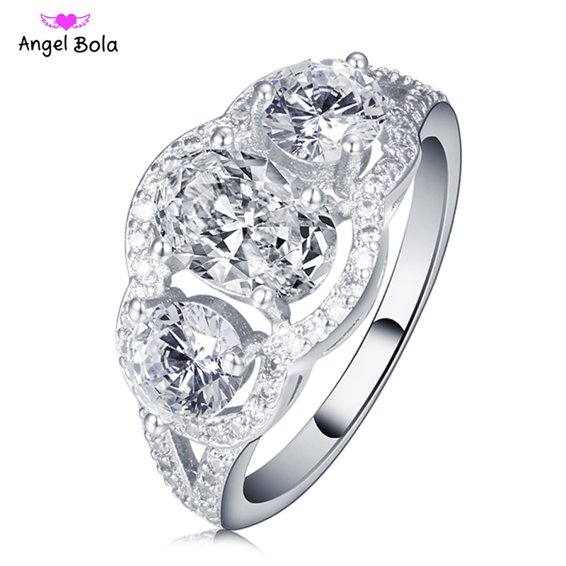 Classic Wedding Rings for Women Jewelry Engagement Gift Paved Czech Zircon Bijoux Lady Love Luxury Rings RC-033