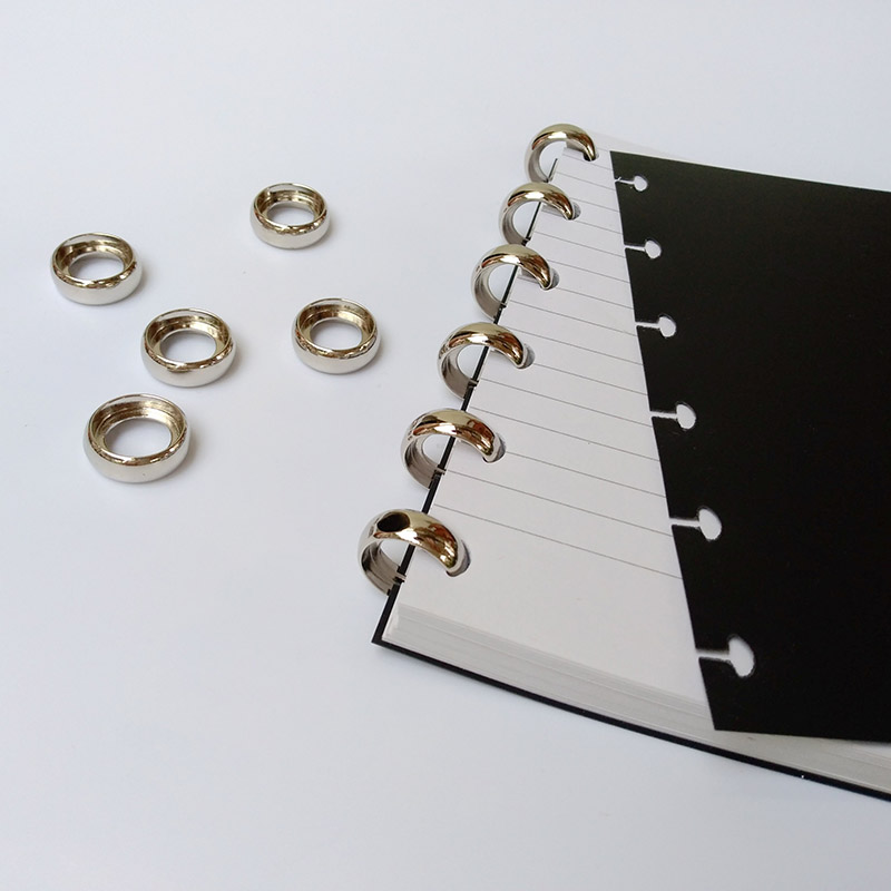 10Pc 18mm Gold Silver Metal Loose Leaf Ring Hollow Binding Buckle Metal Hoop Book Circle Ring DIY Binding Clasp Ring Binder Disc