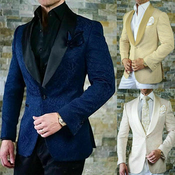 Custom Made Groom Tuxedos Formal Shawl Lapel Wedding Bridegroom Best Men One Button Men Suits Jacket+Pants