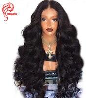 Hesperis 13 6 Inch Deep Part Body Wave 180 Density Lace Front Human Hair Wigs Brazilian