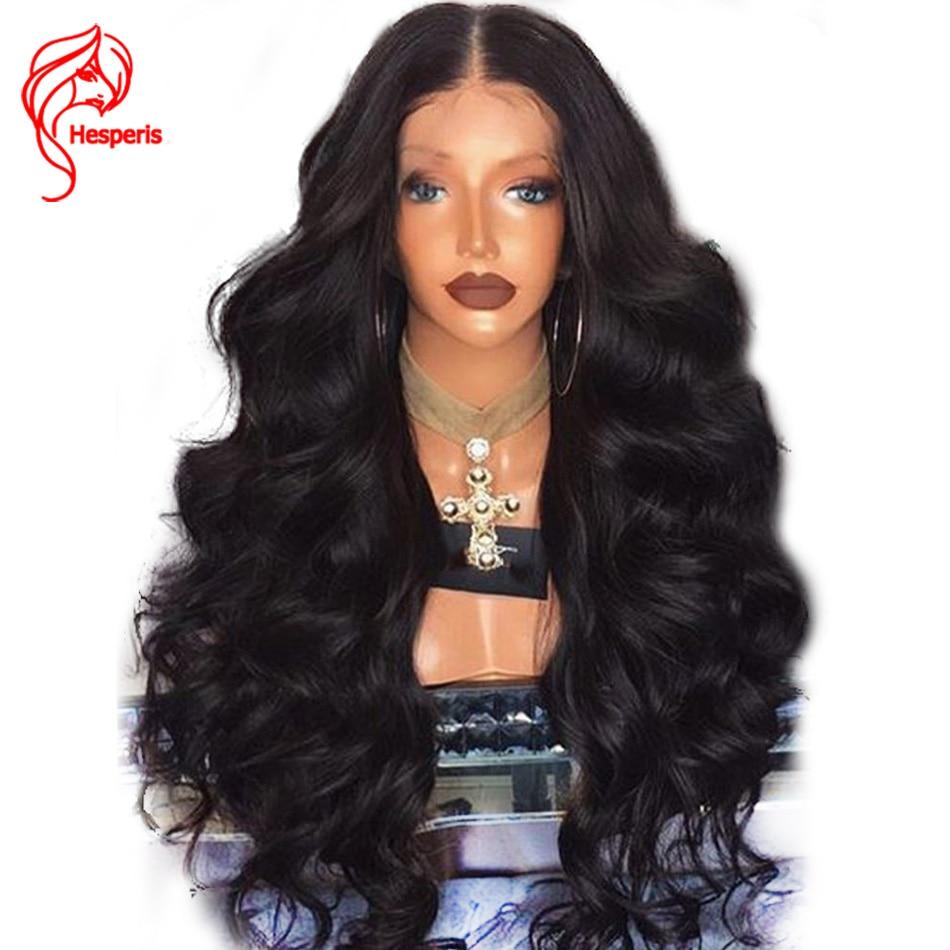 Hesperis 180% Плотность Синтетические волосы на кружеве натуральные волосы парики бразильского Волосы remy 13x6 глубокий часть объемная волна Синте...