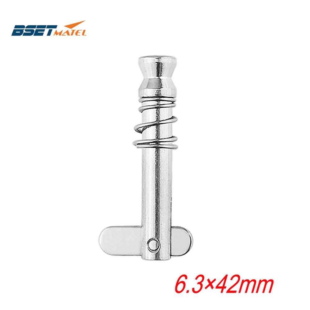 6.3*42mm BSET MATEL Stainless Steel 316 Marine Grade 1/4 Inch Quick Release Pin For Boat Bimini Top Deck Hinge Marine Hardware