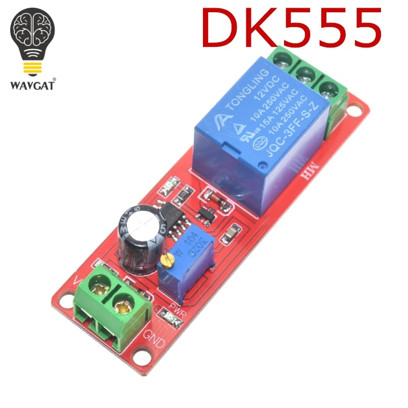 WAVGAT NE555 DK555 Timer Switch Adjustable Disconnect Module Time delay relay Module DC 12V Delay relay shield 0~10S|Integrated Circuits|   - AliExpress