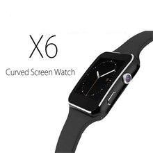 2016 neue Bluetooth Smart Uhr X6 Smartwatch sport uhr Für Apple iPhone Android-Handy Mit Kamera FM Unterstützung SIM free Lieferung