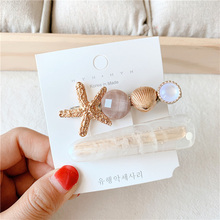 Girls Shell Pearl Metal Hairpins