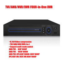 16CH 4 In 1 IP & AHD & TVI & 960H Analog Camera HVR 1080P Hybrid DVR NVR P2P Audio Input Support ONVIF Mobile Phone 2x HDD 1U