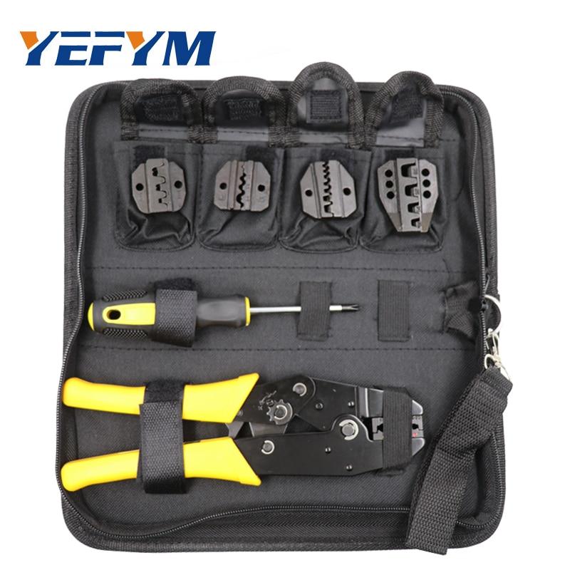 цена на YEFYM Crimping Tool Set Cable Cutter Crimper Kablo Kesici Pliers Tools Crimp Alicate Plier Wire Alicate Crimpador Alicates crimp