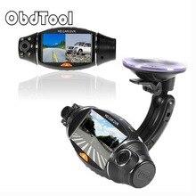 Obdtool R310 2.7 «Видео Приборная панель автомобиля Двойной объектив Камера Регистраторы GPS HD Видеорегистраторы для автомобилей черный