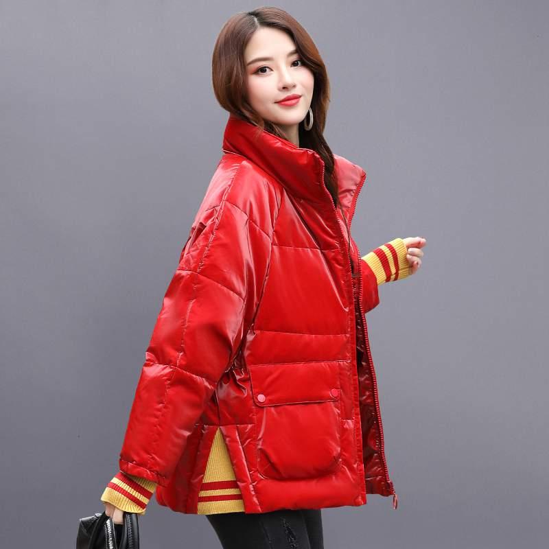 D'hiver Ly560 Lumineux Mince Chaud 2019 Haute Femmes Épais Canard Jacker Manteau Blanc Black Parkas Court Bas De Qualité Mode Visage Nouvelles red XuOPZwkiT