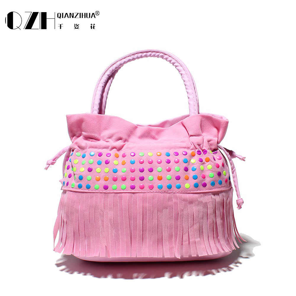 Children tassel handbags girls small shoulder bag kids messenger bags mini  bag Coin Purses ToddlerChic bags