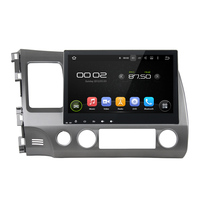 10.1 inch Screen Android 5.1 Car DVD Player GPS Navigation System Media Stereo Audio Video for Honda Civic 2006 2011