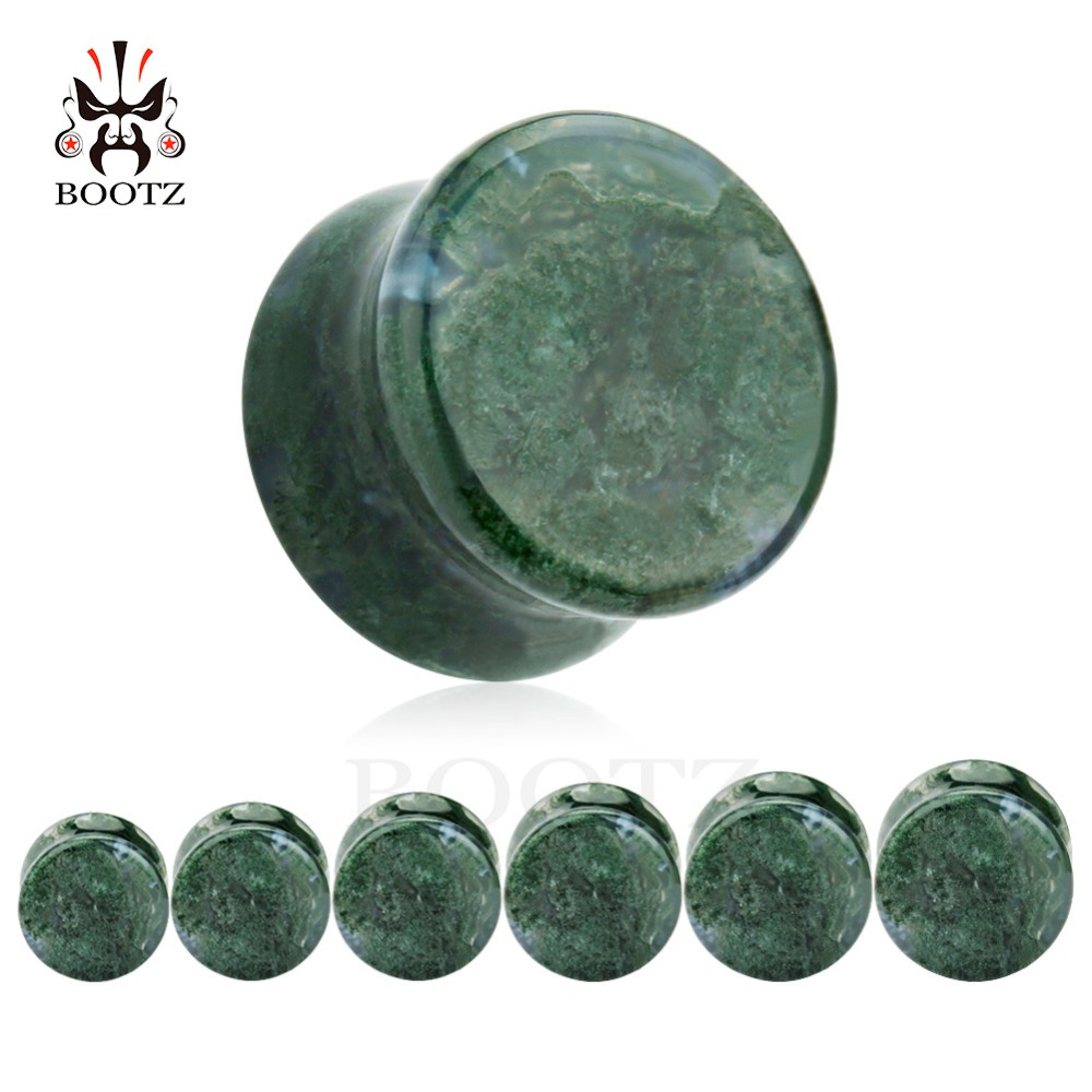 hot selling stone ear plugs tunnels piercing body jewelry mix sizes 6mm to 16mm lot ear