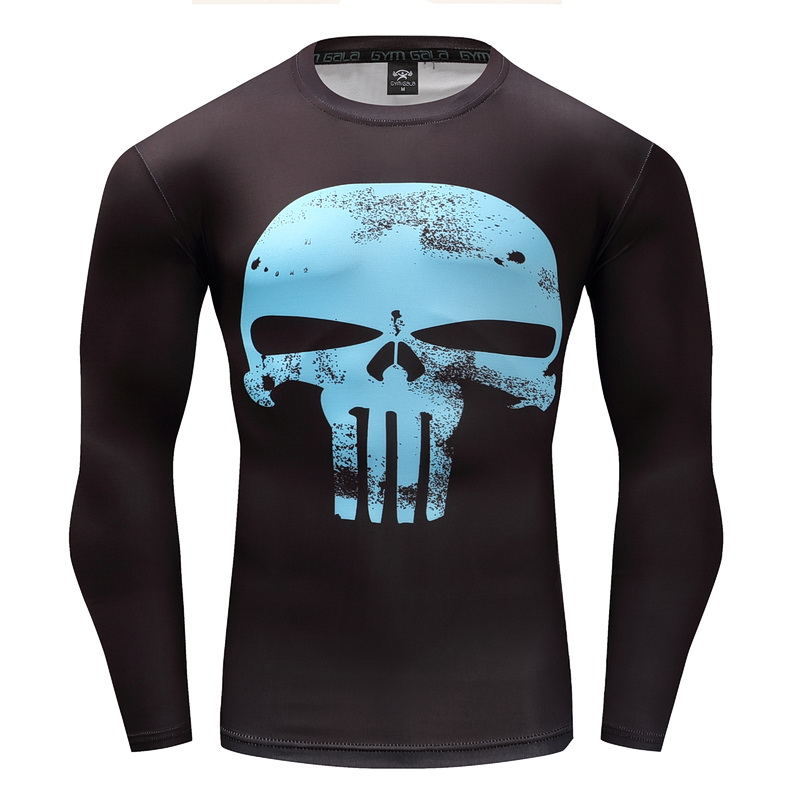Top quality compression t-shirts Batman/punisher/incredible hulk captain America g ym men fitness shirts men t shirts