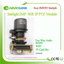 2MP 1080P FULL HD WI FI Starlight IP PTZ Network Camera Module Motorized auto-focal 2.7-13.5mm 5X Zoom Lens TF Card Slot IIMX291