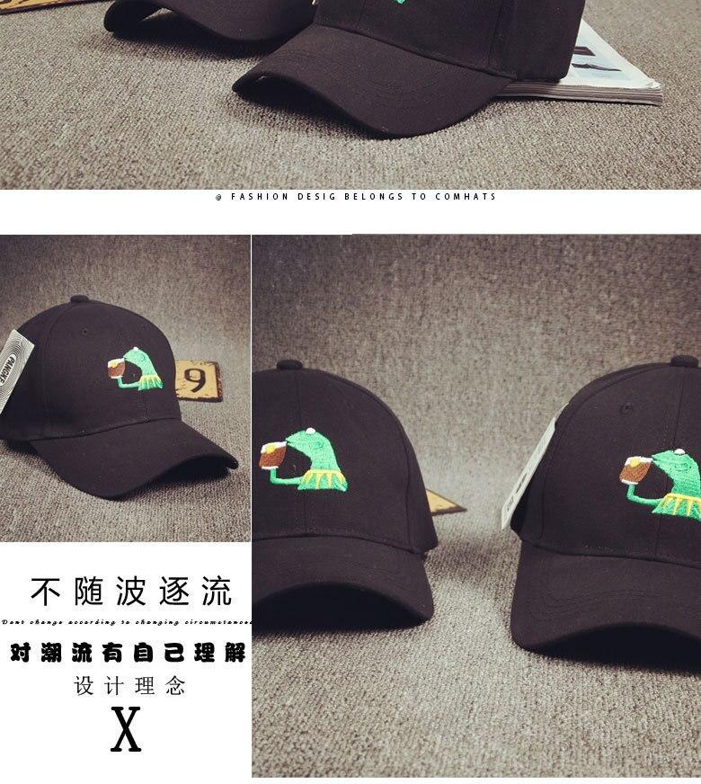 8f3056ff17262 2017 New Style Cartoon expression Baseball Hats Gentleman Lizard ...