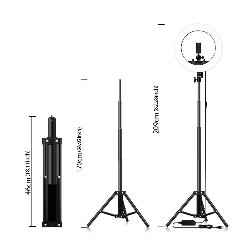 Image 3 - Dimmable Selfie LED Ring Light 14 Photography Ring Lamp with Tripod 1.6M for Beauty Makeup Photo Studio lighting Live Stream-in Photographic Lighting from Consumer Electronics