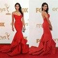 Sexy Red Нина Добрев русалка без бретелек Emmy Awards Вечерние Платья Знаменитости Платья