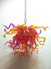 Free shipping fashionable amber blown art glass chandeliers lighting (BGC20137)