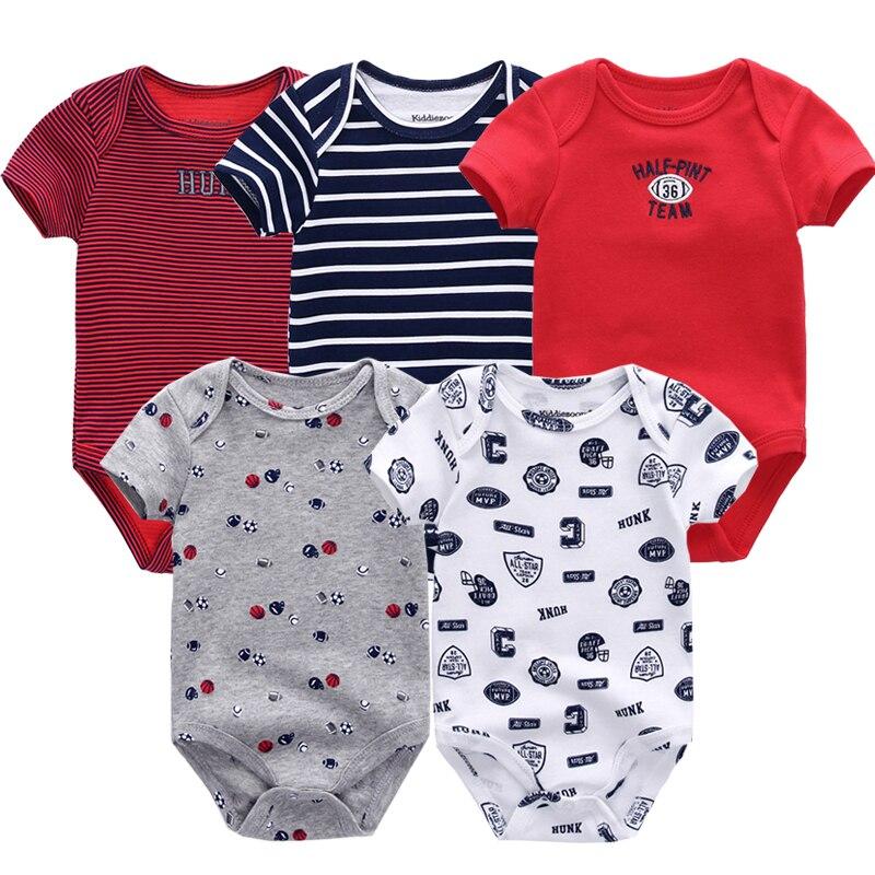 HTB1sm3UiKSSBuNjy0Flq6zBpVXa4 5PCS/LOT Baby Rompers 2019 Short Sleeve 100%Cotton overalls Newborn clothes Roupas de bebe boys girls jumpsuit&clothing
