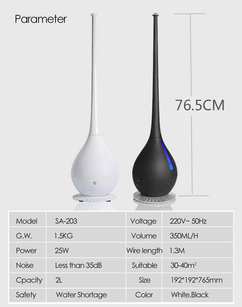 Household Floor-standing Humidifier Detachable Desktop Air Humidifier Mute Bedrom Large Capacity Diffuser Mist Maker