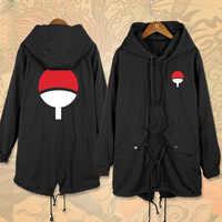Anime NARUTO Uchiha Sasuke Cosplay Lange Windjacke Frauen Männer Herbst Winter Kostüm Mit Kapuze Mantel Hoodie Wind jacke Outercoat