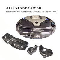Carbon Fiber Automotive Bellows Air Filter Intake System Cover For Mercedes Benz W204 Facelift C63 AMG