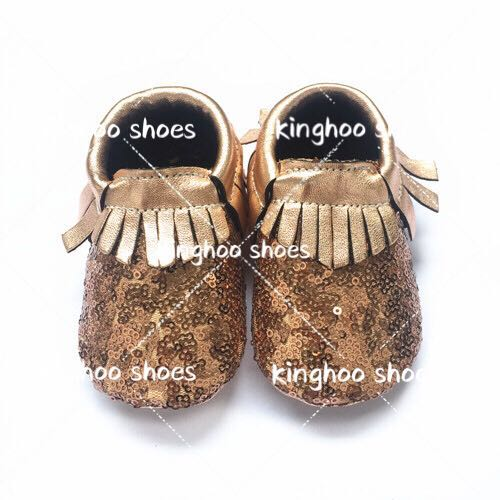 6b9676972f5c New model shining sequins moccasins rose gold fringes toddler baby moccasin  shoes accepting pre-order