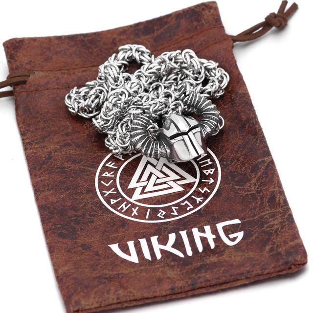 NORDIC VIKING WARRIORS HELMET NECKLACE