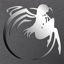 4pcs/set Eco-friendly Red/Silver Accel World Anime 3D Metal Decal Sticker For Car Phone Laptop Book Kids DIY Decals Stickers Toy