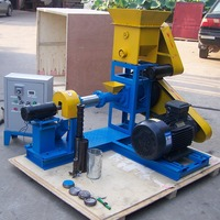 80 100kg/h Dog Floating Fish Pellet Mill Machine Extruder