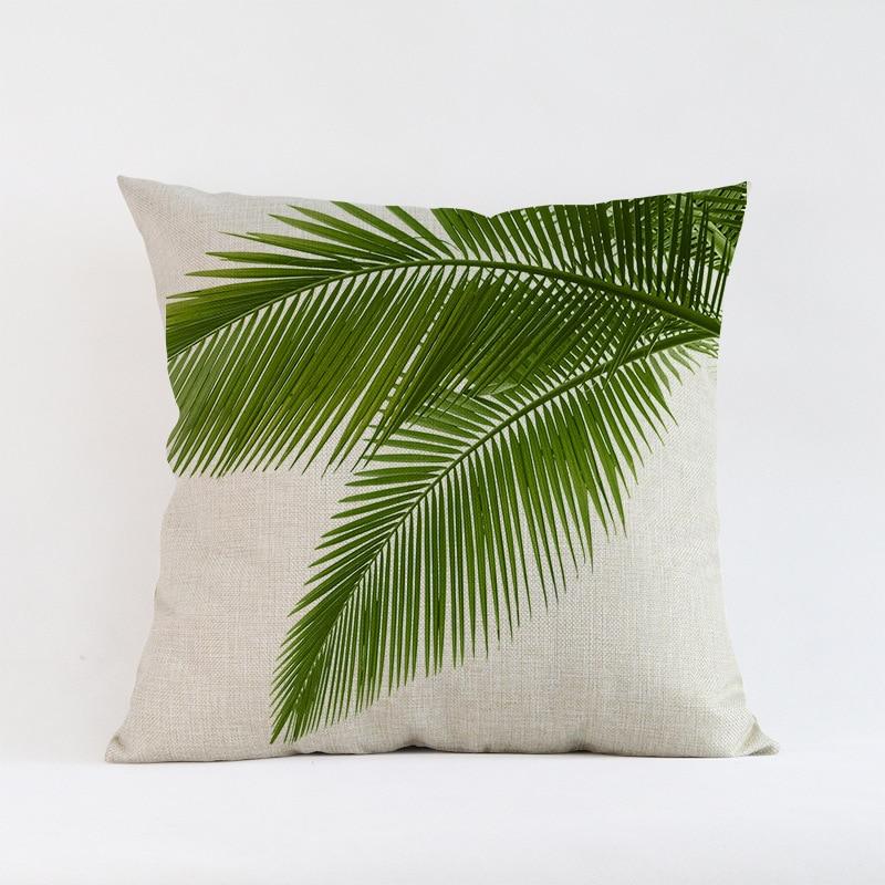 Ventas calientes Hojas verdes planta de follaje Creativo Patrón de - Textiles para el hogar