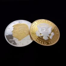 Gold silver color President Donald Trump Inaugural Golden EAGLE Commemorative Novelty Coin Hot 40mm america president donald trump commemorative coin gold plated colorful metal coin with plastic case