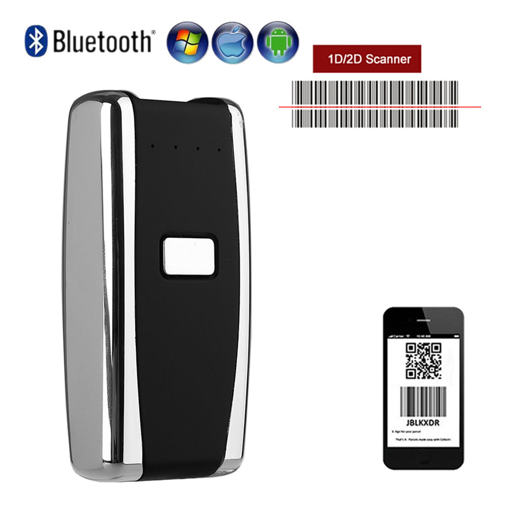 Blueskysea QS-S01 Wireless Mini Portable Bluetooth Barcodes 1D 2D Scanner Handheld Screen Reader Scan For IOS Android Windows quelle heine 148909