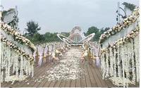 Large iron arch arcade shopping mall beauty Chen props fashion wedding stage design decoration decoration furnishings.