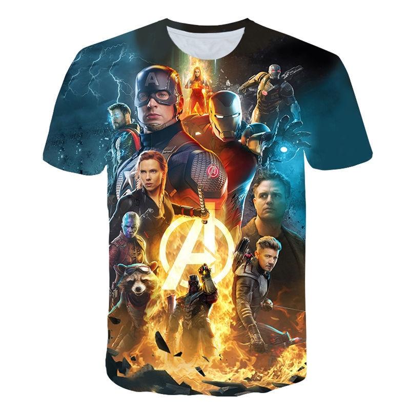 2019 April New design   t     shirt   marvel movie Avengers Endgame 3D print   t  -  shirts   Short sleeve Harajuku style tshirt streetwear tops