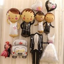 лучшая цена i love you balloons helium party decoration giant wedding veil suit groom bride heart dove diamond ring wedding balloons