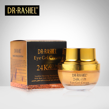 2 pcs Eye Cream 24K Gold Collagen Tight Anti Wrinkle Gel Fine Lines Lift Remove Dark Circle Puffiness Aging DRRASHEL