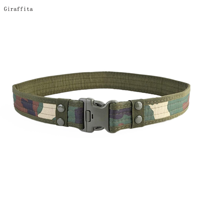 2019 Camouflage Mens Army Military Tactical Belt Adjustable Nylon  Hawk Outdoor Heavy Duty Combat Belts