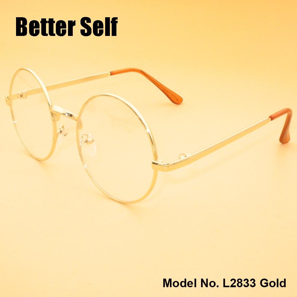 둥근 안경 더 나은 자기 재고 L2833 전체 림 안경 금속 - 의류 액세서리